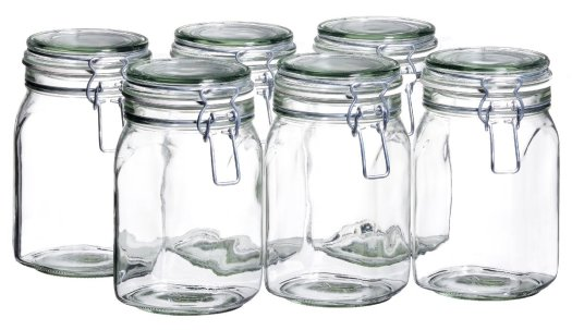 high quality glass pantry organization jars